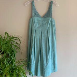 Green Crochet Pinafore Babydoll Dress Apron 2